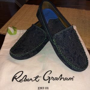 Robert Graham Paisley Suede Loafers